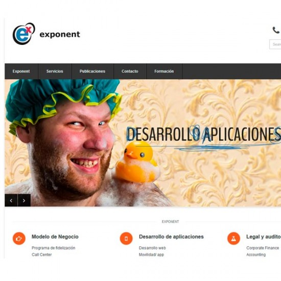 Diseño web Exponent