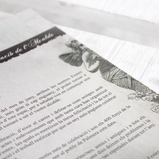 Diseño libro vintage | Centenario carta pobla.