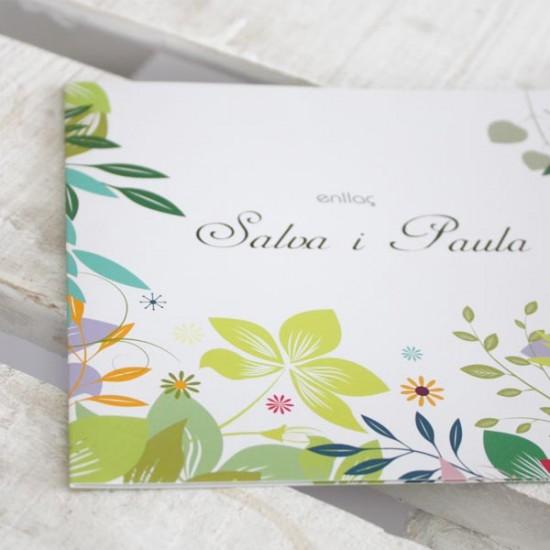 Diseño tarjeta boda