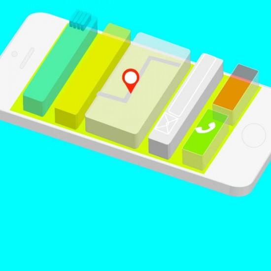 Ilustración Móvil app